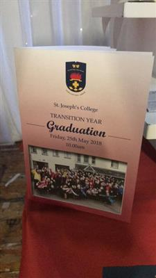 Transition Year Graduation 2018