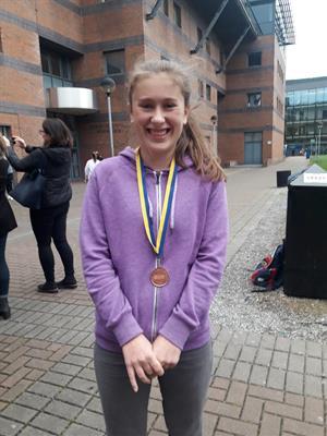 Ariane Hannon wins Bronze at Irish European Union Science Olympiad