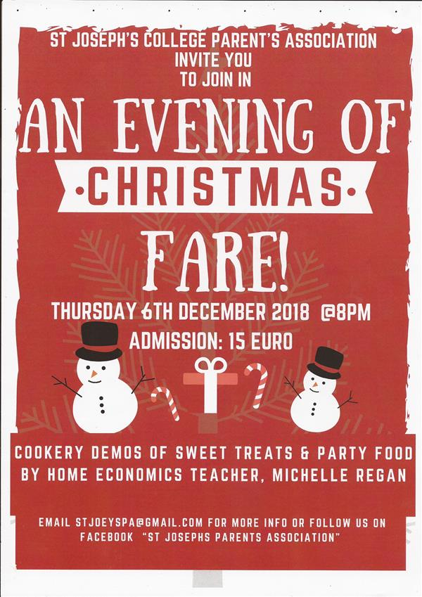 AN EVENING OF CHRISTMAS FARE!