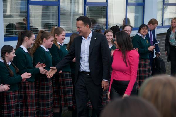 Taoiseach Leo Varadkar's visit to St Joseph's College