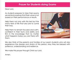 A Prayer for Students doing Exams