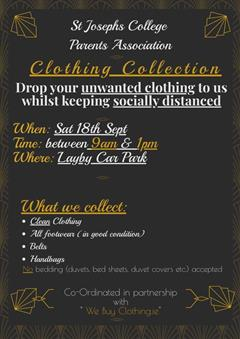 Clothing Collection Sat 18th September